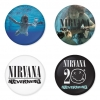 Nirvana button badge 1.75 inch custom backside 4 type Pinback, Magnet, Mirror or Keychain. Get 4 in package [2]
