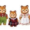 ครอบครัวซิลวาเนียน หมีแพนด้าแดง 3 ตัว Sylvanian Red Panda Family