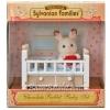 ซิลวาเนียนเบบี้กระต่ายช็อคโกแลตกับเตียงนอน (EU) Sylvanian Chocolate Rabbit Baby Set