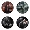 ของที่ระลึกวง Korn เลือกด้านหลังได้ 4 แบบ เข็มกลัด, แม่เหล็ก, กระจกพกพา หรือ พวงกุญแจที่เปิดขวด 1 แพ็ค 4 ชิ้น [5]