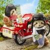 ซิลวาเนียน ปู่่และย่าแรคคูนกับมอเตอร์ไซด์ (UK) Sylvanian Families Motorcycle & Sidecar
