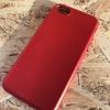เคส IPhone 7 TPU สีแดงกล้องนูน