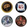 ของที่ระลึกวง The Who เลือกด้านหลังได้ 4 แบบ เข็มกลัด, แม่เหล็ก, กระจกพกพา หรือ พวงกุญแจที่เปิดขวด 1 แพ็ค 4 ชิ้น [4]