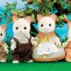 ครอบครัวซิลวาเนียน แมวสีครีม 4 ตัว (UK) Sylvanian Families KEATS Cream Cat Family