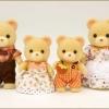ซิลวาเนียน ครอบครัวหมีสีส้ม 4 ตัว Sylvanian Families Bear Family