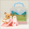 ซิลวาเนียน เบบี้กวางกับไม้ลื่น (JP) Sylvanian Families Carry Case Baby Deer & Slide
