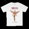 เสื้อยืด วง Nirvana สีขาว แขนสั้น S M L XL XXL [6]