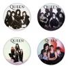 ของที่ระลึกวง Queen เลือกด้านหลังได้ 4 แบบ เข็มกลัด, แม่เหล็ก, กระจกพกพา หรือ พวงกุญแจที่เปิดขวด 1 แพ็ค 4 ชิ้น [12]