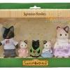 ครอบครัวซิลวาเนียนแมวดำ 5 ตัว (JP) Sylvanian Chacoal Cat Family