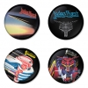 Judas Priest button badge 1.75 inch custom backside 4 type Pinback, Magnet, Mirror or Keychain. Get 4 in package [13]