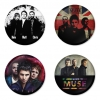 Muse button badge 1.75 inch custom backside 4 type Pinback, Magnet, Mirror or Keychain. Get 4 in package [7]