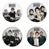 Muse button badge 1.75 inch custom backside 4 type Pinback, Magnet, Mirror or Keychain. Get 4 in package [5]