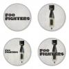 ของที่ระลึกวง Foo Fighters เลือกด้านหลังได้ 4 แบบ เข็มกลัด, แม่เหล็ก, กระจกพกพา หรือ พวงกุญแจที่เปิดขวด 1 แพ็ค 4 ชิ้น [1]