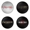 ของที่ระลึกวง Linkin Park เลือกด้านหลังได้ 4 แบบ เข็มกลัด, แม่เหล็ก, กระจกพกพา หรือ พวงกุญแจที่เปิดขวด 1 แพ็ค 4 ชิ้น [12]