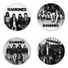 ของที่ระลึกวง Ramones เลือกด้านหลังได้ 4 แบบ เข็มกลัด, แม่เหล็ก, กระจกพกพา หรือ พวงกุญแจที่เปิดขวด 1 แพ็ค 4 ชิ้น [13]
