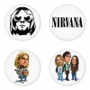 Nirvana button badge 1.75 inch custom backside 4 type Pinback, Magnet, Mirror or Keychain. Get 4 in package [3]
