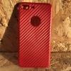 เคส IPhone 7 Plus TPU สีแดงเคฟล่า