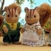ครอบครัวซิลวาเนียนกระรอกเฟอร์แบงค์ส 4 ตัว (UK) Sylvanian Families Furbanks Squirrel Family