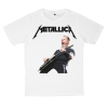 เสื้อยืด วง Metallica สีขาว แขนสั้น S M L XL XXL [6]