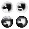 Linkin Park button badge 1.75 inch custom backside 4 type Pinback, Magnet, Mirror or Keychain. Get 4 in package [2]