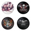 Avenged Sevenfold button badge 1.75 inch custom backside 4 type Pinback, Magnet, Mirror or Keychain. Get 4 in package [1]