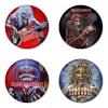 ของที่ระลึกวง Iron Maiden เลือกด้านหลังได้ 4 แบบ เข็มกลัด, แม่เหล็ก, กระจกพกพา หรือ พวงกุญแจที่เปิดขวด 1 แพ็ค 4 ชิ้น [9]
