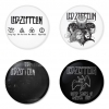 Led Zeppelin button badge 1.75 inch custom backside 4 type Pinback, Magnet, Mirror or Keychain. Get 4 in package [4]