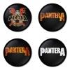 ของที่ระลึกวง Pantera เลือกด้านหลังได้ 4 แบบ เข็มกลัด, แม่เหล็ก, กระจกพกพา หรือ พวงกุญแจที่เปิดขวด 1 แพ็ค 4 ชิ้น [3]