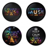 Muse button badge 1.75 inch custom backside 4 type Pinback, Magnet, Mirror or Keychain. Get 4 in package [3]