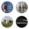 ของที่ระลึกวง Pink Floyd เลือกด้านหลังได้ 4 แบบ เข็มกลัด, แม่เหล็ก, กระจกพกพา หรือ พวงกุญแจที่เปิดขวด 1 แพ็ค 4 ชิ้น [3]