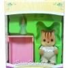 ซิลวาเนียน เบบี้กระรอก+เปล (EU) Sylvanian Families Walnut Squirrel Baby Girl and Crib