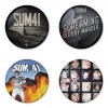 Sum41 button badge 1.75 inch custom backside 4 type Pinback, Magnet, Mirror or Keychain. Get 4 in package [2]