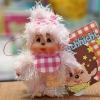 ตุ๊กตาลิงมอนจิจิขนยาว 3.5นิ้ว Flaky Hair Monchhichi Girl Mascot