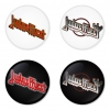 Judas Priest button badge 1.75 inch custom backside 4 type Pinback, Magnet, Mirror or Keychain. Get 4 in package [14]