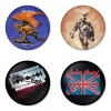 Judas Priest button badge 1.75 inch custom backside 4 type Pinback, Magnet, Mirror or Keychain. Get 4 in package [16]