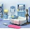 ซิลวาเนียน..ห้องอาบน้ำสีฟ้า (US) Calico Critters Bathroom Set