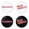 ของที่ระลึกวง Iron Maiden เลือกด้านหลังได้ 4 แบบ เข็มกลัด, แม่เหล็ก, กระจกพกพา หรือ พวงกุญแจที่เปิดขวด 1 แพ็ค 4 ชิ้น [15]