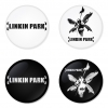 Linkin Park button badge 1.75 inch custom backside 4 type Pinback, Magnet, Mirror or Keychain. Get 4 in package [1]