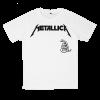 เสื้อยืด วง Metallica สีขาว แขนสั้น S M L XL XXL [3]