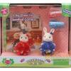 Calico Critters Molly Mouse & Stacy Bunny's Cheerleading Set (ชุดเชียร์ลีดเดอร์หนูกับกระต่ายซิลวาเนียน)