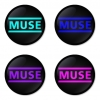 Muse button badge 1.75 inch custom backside 4 type Pinback, Magnet, Mirror or Keychain. Get 4 in package [16]