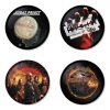 Judas Priest button badge 1.75 inch custom backside 4 type Pinback, Magnet, Mirror or Keychain. Get 4 in package [10]