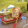 ซิลวาเนียน ชุดหมีสีส้มพายเรือ (UK) Sylvanian Families Canal Rowing Boat