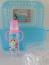 กล่องพลาสติกคว่ำขวดนมพร้อมฝา Nuebabe (สีฟ้า)