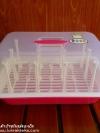 กล่องพลาสติกคว่ำขวดนมพร้อมฝา Babyfour สีชมพู