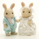 คู่บ่าว-สาว กระต่ายซิลวาเนียน (JP) Sylvanian Families Bride and Groom Set