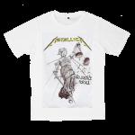 เสื้อยืด วง Metallica สีขาว แขนสั้น S M L XL XXL [1]