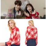 เสื้อไหมพรมเกาหลี โนอึล Uncontrollably Fond สีแดง แนวสเวตเตอร์