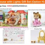 บ้านตุ๊กตาซิลวาเนียนพร้อมเฟอร์นิเจอร์ Sylvanian Families City House with Lights Gift Set H