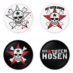 ของที่ระลึกวง Die Toten Hosen เลือกด้านหลังได้ 4 แบบ เข็มกลัด, แม่เหล็ก, กระจกพกพา หรือ พวงกุญแจที่เปิดขวด 1 แพ็ค 4 ชิ้น [9]